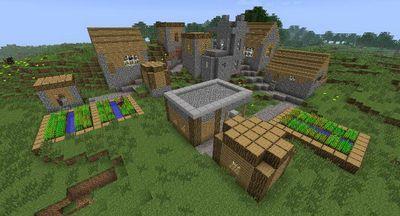 Карту деревня для майнкрафт выживание